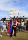 USA, AZ: Rally For Venezuela > Protest Sign Royalty Free Stock Images