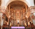 Usa az tucson san xavier del bac main altar the retable or background considered the finest example of spanish retable north of Royalty Free Stock Photo