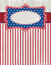 Usa background with one decorative label, vector Royalty Free Stock Photography