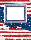 Usa background with one decorative label, vector Stock Images