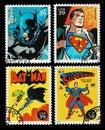 USA Batman and Superman Superheroes Postage Stamps