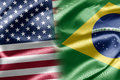 USA and Brazil Stock Photo