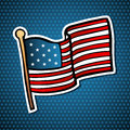 USA cartoon flag Royalty Free Stock Photography