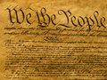 USA Constitution Parchment Royalty Free Stock Photo