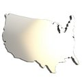 USA country shaped copyspace dimensional plate Royalty Free Stock Photography