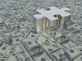 USA Currency Puzzle Royalty Free Stock Photo