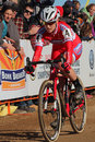 Usa cycling cyclo cross nationals the were held at valmont bike park in boulder colorado from january huge crowds were there to Stock Photo