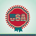 Usa design over blue background vector illustration Royalty Free Stock Images