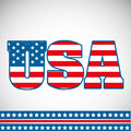 Usa design over gray background vector illustration Royalty Free Stock Photography