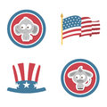 Usa design over white background vector illustration Royalty Free Stock Images