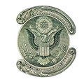 Usa eagle on dollar bill e pluribus unum seal the us one Stock Photography