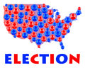 Usa election time in the united states of america Royalty Free Stock Photography