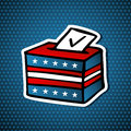 USA elections ballot box Royalty Free Stock Image