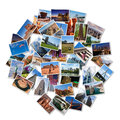 Usa famous landmarks and landscapes photo collage over white background Royalty Free Stock Photography