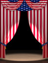 USA flag as curtains Royalty Free Stock Photography