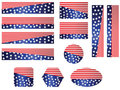 USA flag banner set Royalty Free Stock Photos