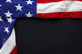 USA flag on black slate