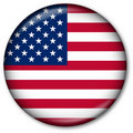 USA flag Button Royalty Free Stock Photo