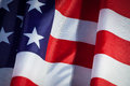 Usa flag closeup of flapping with wave Stock Image