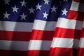 Usa flag closeup of flapping with wave Royalty Free Stock Photo