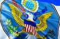USA Flag. 3D Waving Flag Desig...