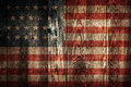Usa flag dark wooden plank wall background with of Stock Photography