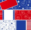 USA Flag design elements Stock Image