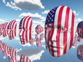 USA Flag Faces Stock Photos