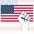 USA flag with fist Royalty Free Stock Image