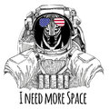 Usa flag glasses American flag United states flag Zebra Horse wearing space suit Wild animal astronaut Spaceman Galaxy