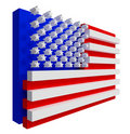 USA Flag. Include clipping path. Royalty Free Stock Photo