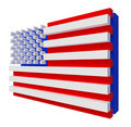 USA Flag. Include clipping path. Stock Image