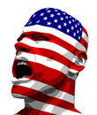 USA Flag Man Yelling Royalty Free Stock Images