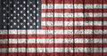 The usa flag painted on wooden plank american old wood background Royalty Free Stock Photo
