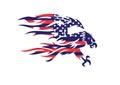 Usa flag patriotic eagle bald hawk vector logo head object Royalty Free Stock Image