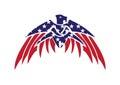 Usa flag patriotic eagle bald hawk vector logo object Royalty Free Stock Photos