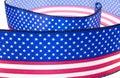 USA flag ribbon Stock Photos