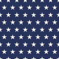 USA flag seamless pattern. White stars on a blue background. Memorial day Royalty Free Stock Photo