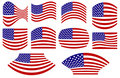 Usa flag set Royalty Free Stock Images
