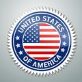 Usa flag vector illustration of lable with Royalty Free Stock Photos