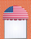 Usa flagged color  awning Royalty Free Stock Photo