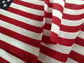 Usa flags on sale closeup of inexpensive american in a store Stock Image