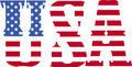 Usa font flag Royalty Free Stock Image