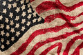 Usa grunge flag painted on fabric Royalty Free Stock Images