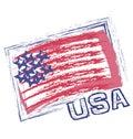 Usa grunge flag vector icon application template icon Stock Photos