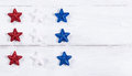 USA holiday stars on white wooden boards Royalty Free Stock Photo