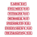 USA holidays rubber stamps Royalty Free Stock Photo