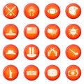 USA icons vector set