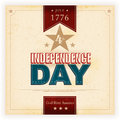 Usa indenpendence day background vintage style independence poster with the wording july th independence god bless america grunge Stock Image