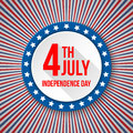 USA Independence Day background. 4 July national celebration. Patriotic template with text, stripes and stars for